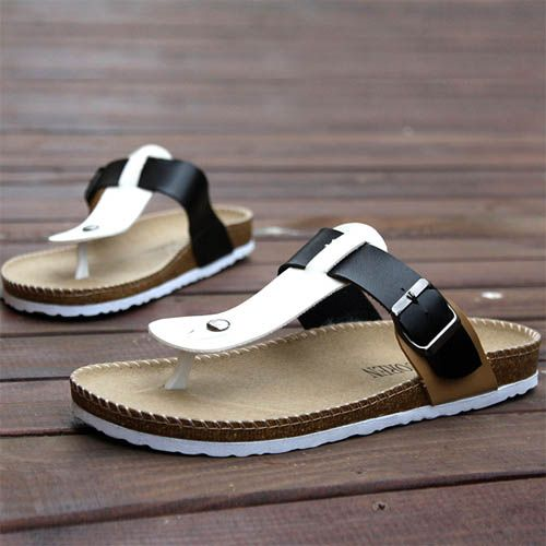 Sandales Homme Tongs Beach Men New elegance Confort Noires