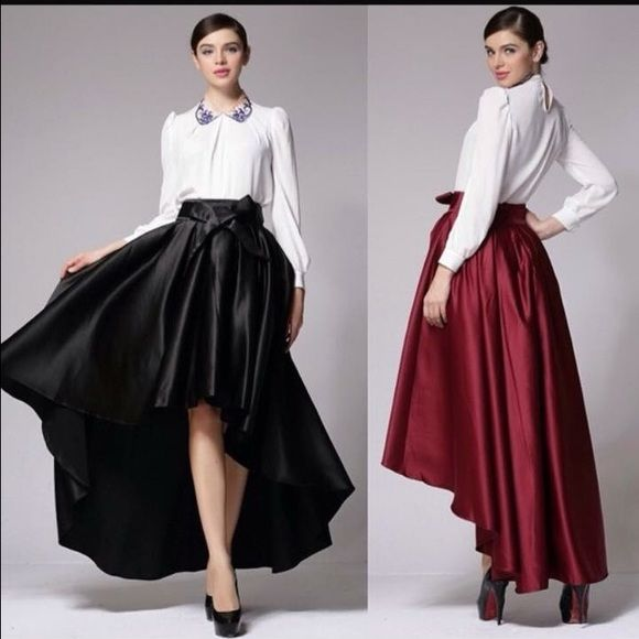 Gracia high-low skirt Brand new black high low full skirt. So elegant and versatile! Gracia Skirts High Low