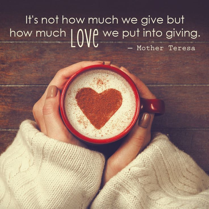 It's not how much we #give but how much #love we put into giving. ― Blessed Mother Teresa quote