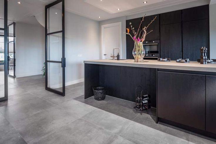 Kitchen black cabinets