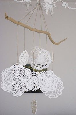 This could be a really cute mobile for a baby girl's room.