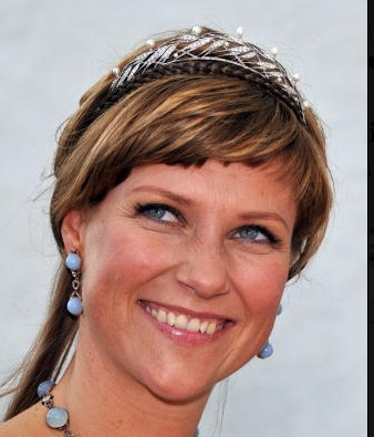 Princess Martha Louise of Norway wearing King Olav's Gift Tiara given to her on her 18th birthday.