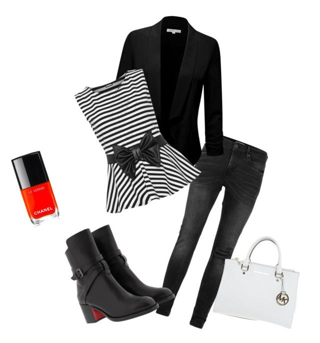 """""""Untitled #190"""" by nefertiti001 on Polyvore featuring Topman, Christian Louboutin, Chanel, Michael Kors and WearAll"""
