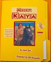 kaya lapbookKaya American Girl, American Girl Club, Lapbook Front, Girls Club, Kaya Lapbook, Girls Kaya, Girls Lapbook, American Girl Homeschool, American Girls