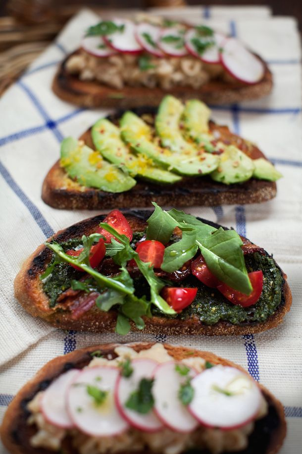 Tuesday Tastings :: Build-Your-Own Tartines } Camille Styles #appetizers