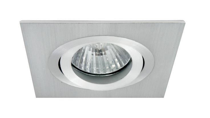 Luxe Square Adjustable 50w Downlight in Stainless Steel