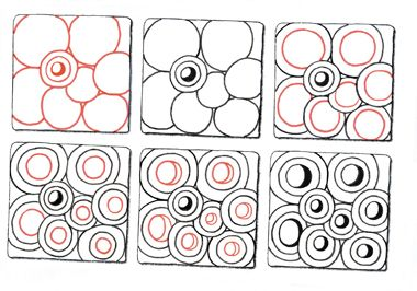 Bubbles... Zentangle is a registered trademark of Zentangle, Inc. via Suzanne McNeill's blog             used with permission   zentangle.com   Zentangle is a registered trademark of Zentangle, Inc.