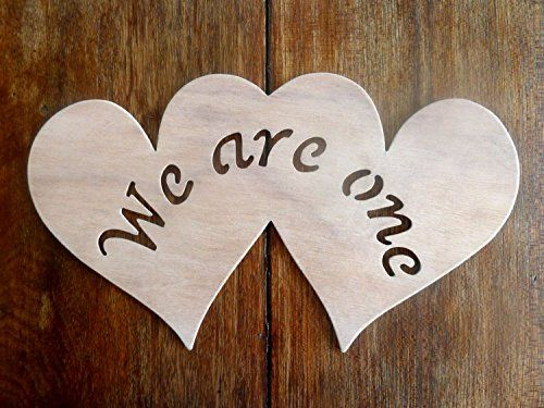 """Beautiful Large Sized Hand Crafted MDF 'Two Love Hearts - We Are One' Drawing Template / Stencil - 10.5"""" X 6"""" by Greg Ledder http://www.amazon.co.uk/dp/B00TDBXC5M/ref=cm_sw_r_pi_dp_qVHjvb10S6PCG"""