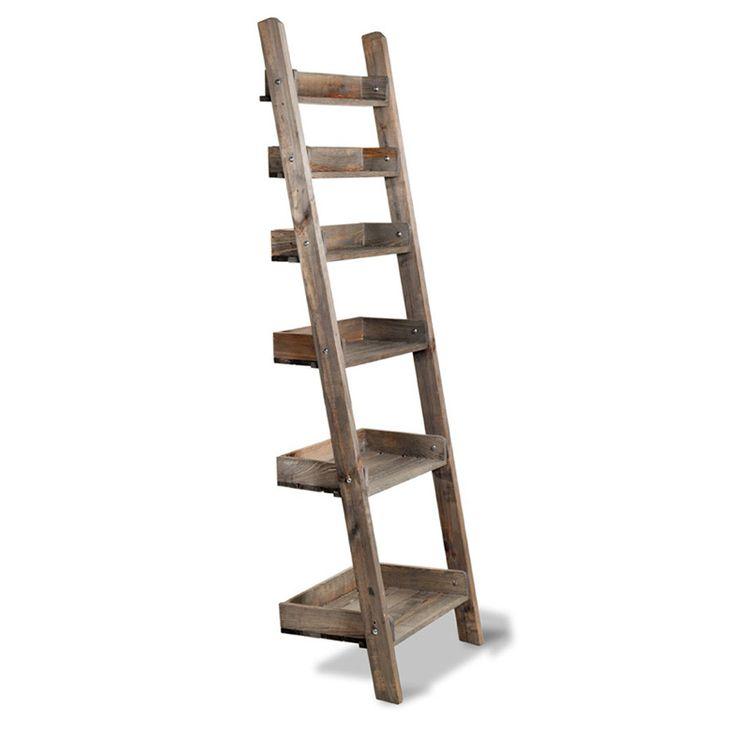 Rustic Chic Aldsworth Shelf Ladder | wooden shelf unit | The Farthing