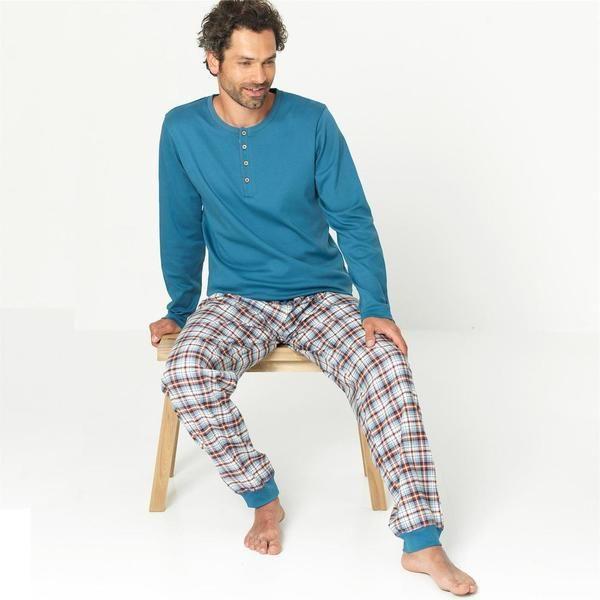 Organic Cotton Flannel Men Pyjamas  - Living Crafts