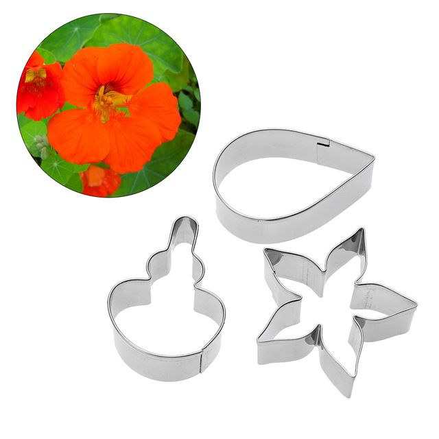 3pcs/set Stainless Steel Flower Petal Mold Cake Decorating Tools Sugar Paste Cookie Cutter Kitchen DIY Baking Accessories