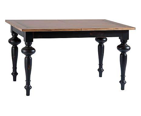 Tavolo allungabile in legno nero - 140x80x80 cm