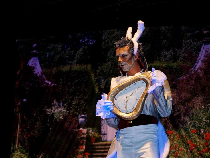 WHITE RABBIT from: Alice nel paese delle meraviglie il Musical (Alice in Wonderland the Musical)  COSTUMES, SCENOGRAPHY & GRAPHYC by Annalisa Benedetti copyright Annalisa Benedetti & Enrico Botta #alice #aliceinwonderland #musical #wonderland #whiterabbit