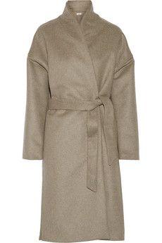 Totême Chelsea wool-blend felt wrap coat | THE OUTNET