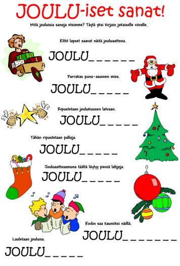 Joulukuu on jo melkein puolessa välissä ja nyt vasta ehdin etsiä jouluaiheisia tehtäviä terapiaa piristämään. Internetin ihmeellisestä maailmasta löytyy vaikka ja mitä jouluaiheista puuhaa lapsille (ja vähän isommillekin). Tässä teille muutamia löytämiäni tehtäviä. Laitan tänne linkit blogeihin tai sivustoihin, joilta löytyvät ladattavat pdf-tiedostot. Ai niin; joulun teemaan sopien nämä kaikki saa ladattua ilmaiseksi! Suurin osa tehtävistä on…