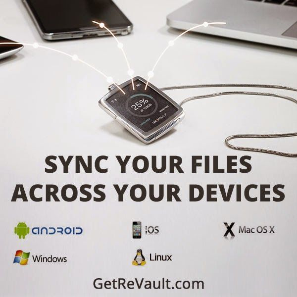 World's first Smartwatch with auto-sync across your devices: Android, IOS, Windows, OS X and Linux. Does not require an internet connection. It's fast and no monthly fees! http://igg.me/at/revault