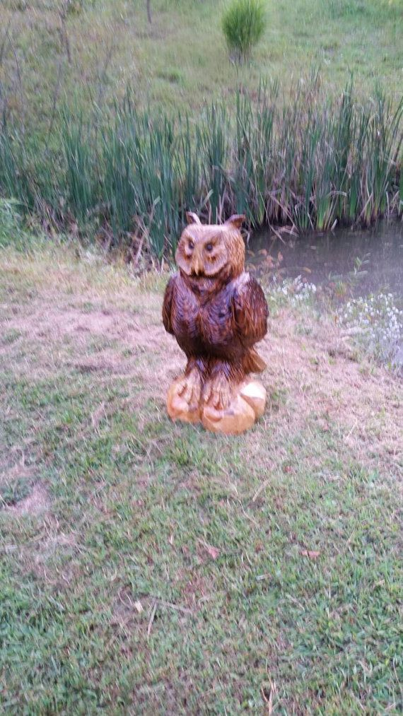Chainsaw Carving Chainsaw Carved Owl by GearysCustomCarvings