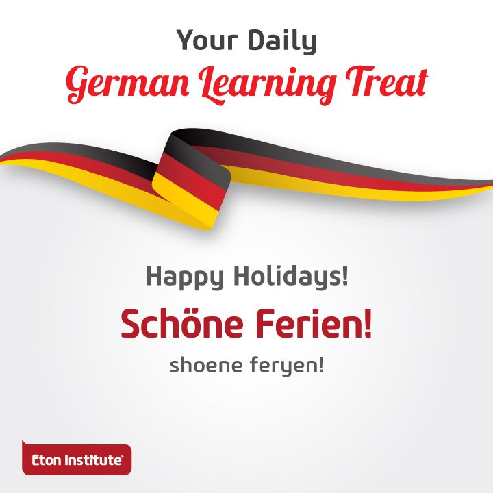 Learn to say 'Happy Holidays' in German. Share today's learning treat with your friends!