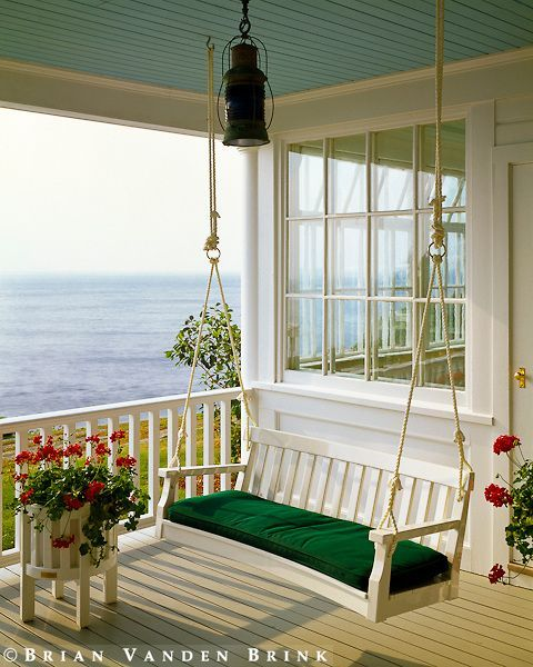 Porches | Ocean breeze on a swing bench