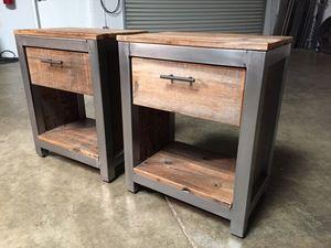 Repurposed Wood End Table