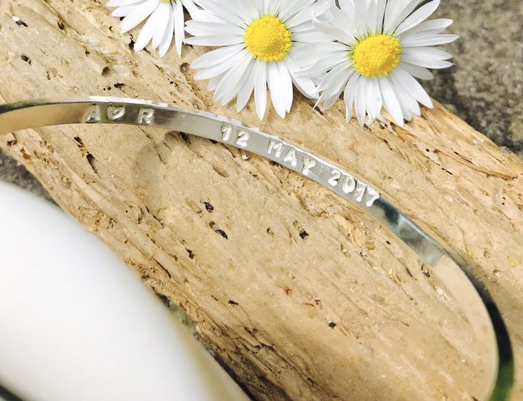 A personal favourite from my Etsy shop https://www.etsy.com/uk/listing/516618176/silver-bride-personalised-bangle