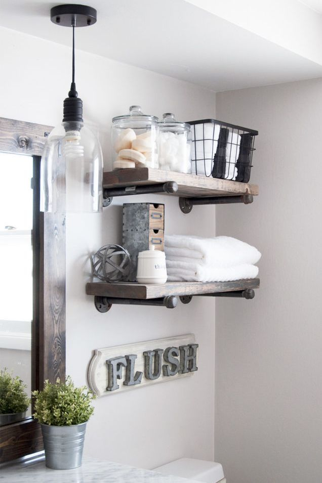 Over The Toilet Storage Rustic Bathroom Shelves Stylish
