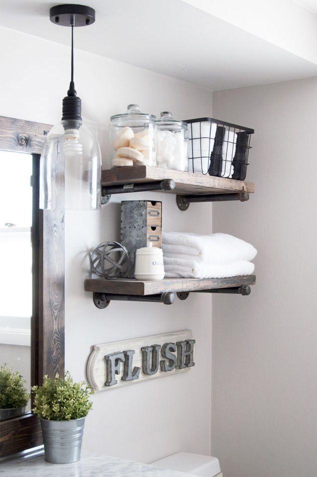 Over The Toilet Storage Rustic Bathroom Shelves Stylish