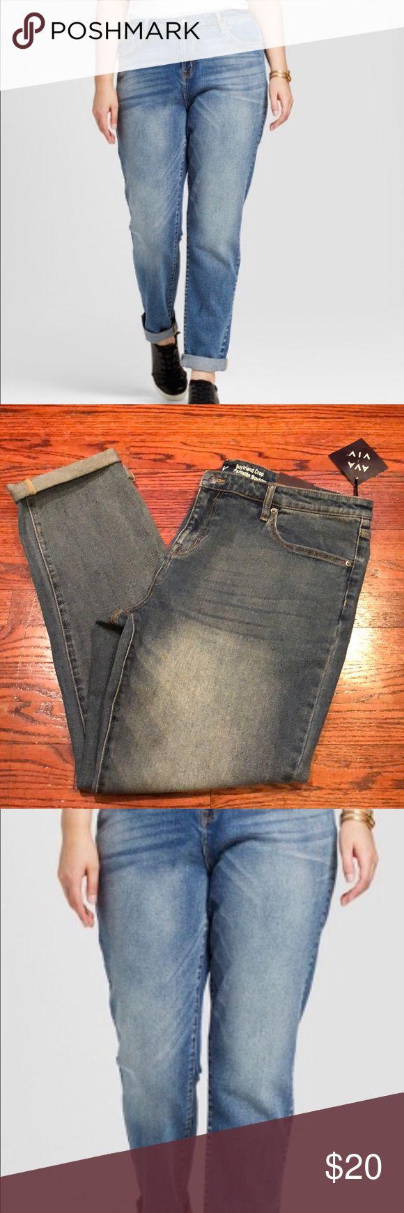 Boyfriend crop super stretch jeans Comfort stretch material Ava & Viv Jeans Boyfriend