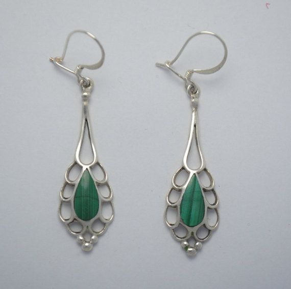 10 best Sterling Silver Malachite Earrings images on ...