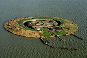 The beautiful and unique island-fort Pampus, part of the Defence Line of Amsterdam. (on the UNESCO World Heritage List)