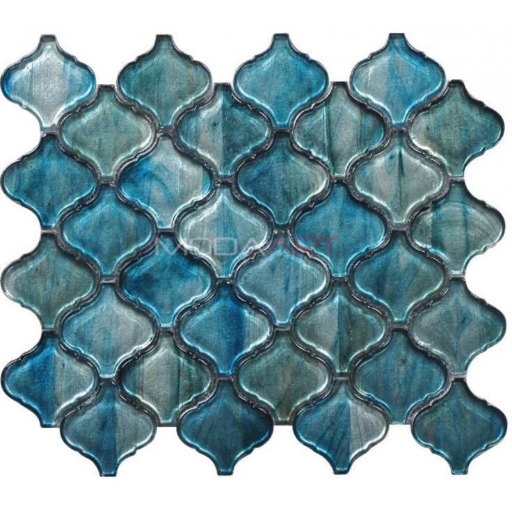 Doe Turkuaz Modaarts Mosaic  Kristal Cam Mozaikler
