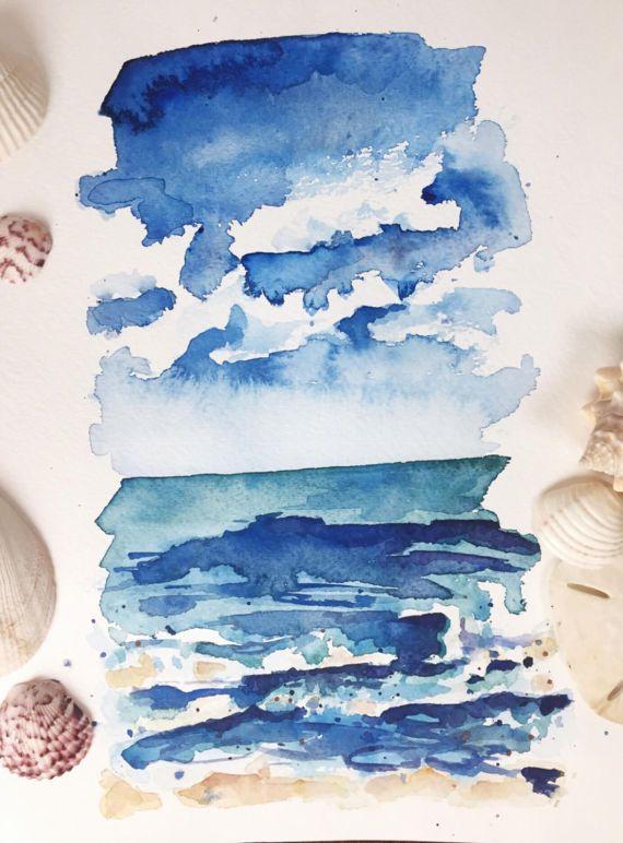 Coastal Rhythms I   9x12 original watercolor painting