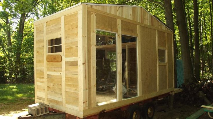 I have built three tiny houses and here is my latest I use many recycled materials and things to keep my cost down for people to purchase them.    Photo and build by Wayne Dewyer
