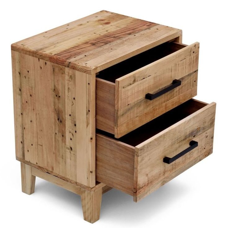 Portland recycled timber bedside table night stand home for Portland reclaimed wood furniture