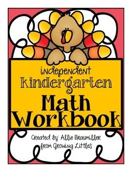 Independent Kindergarten Math Workbook is perfect for the little turkeys in your class! :)