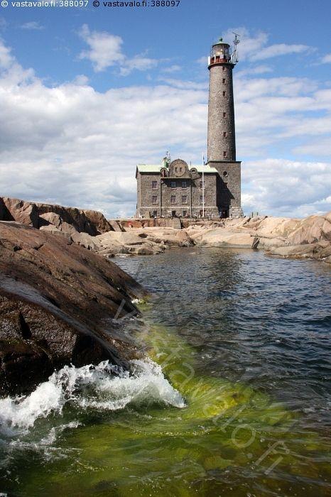 Bengtskärin majakka - Bengtskär majakka saari majakkasaari meri Itämeri ranta kallio vesi aalto tyrsky kivirakennus