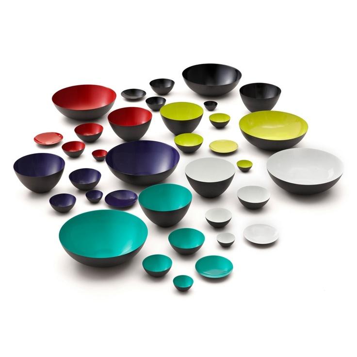 Krenit Bowls from Normann Copenhagen. Design by Herbert Krenchel.