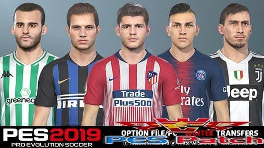 pes 2019 option file pc Winter Transfers 31 1 2019 (PC