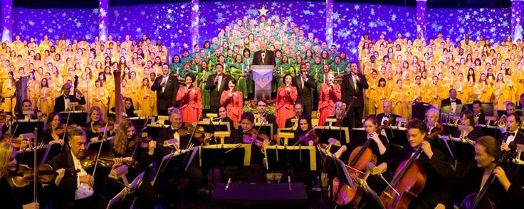 The Candlelight Processional at Holidays Around The World at Epcot, a celebration of the birth of Jesus Christ