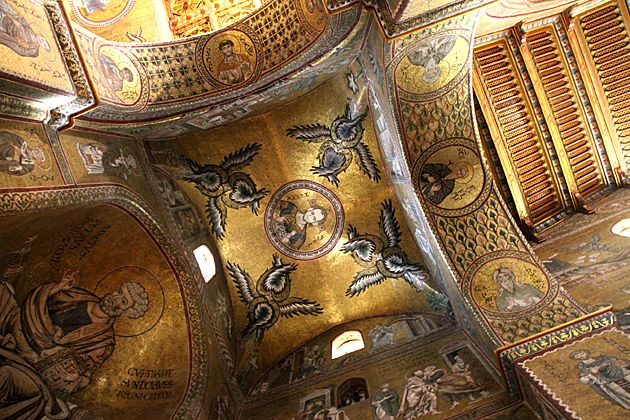 Golden Mosaics -  Кафедральный  собор  в  Монреале,  Палермо,  Сицилия.  Duomo di Monreale или Santa Maria Nuova) .