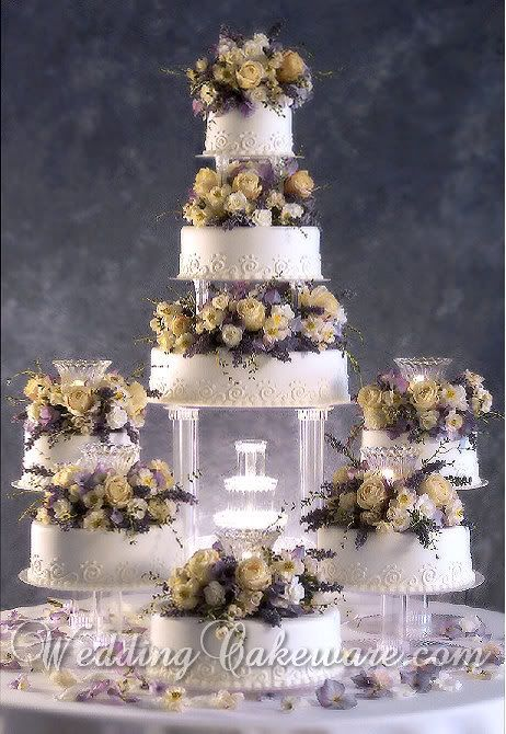 Fountain Wedding Cakes | Tier Cascade Fountain Wedding Cake Stand Stands Set | eBay