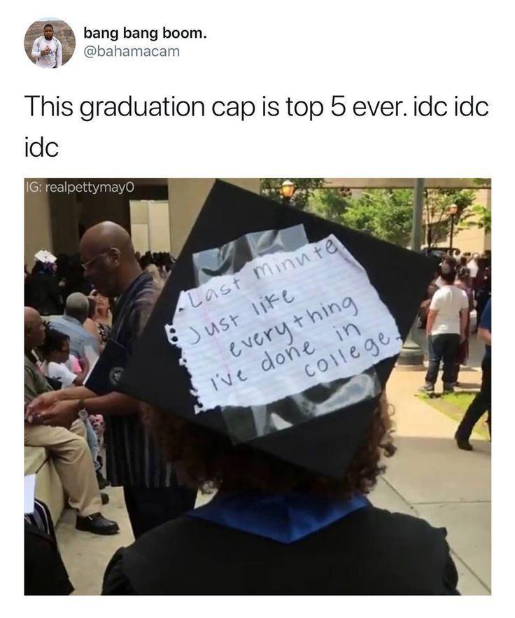 Funny Graduation Caps High Schools Funny Graduation Caps In 2020 Graduation Funny Funny Graduation Caps Graduation Cap