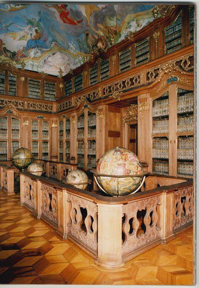 Library at Kroměříž castle, Czech Republic.