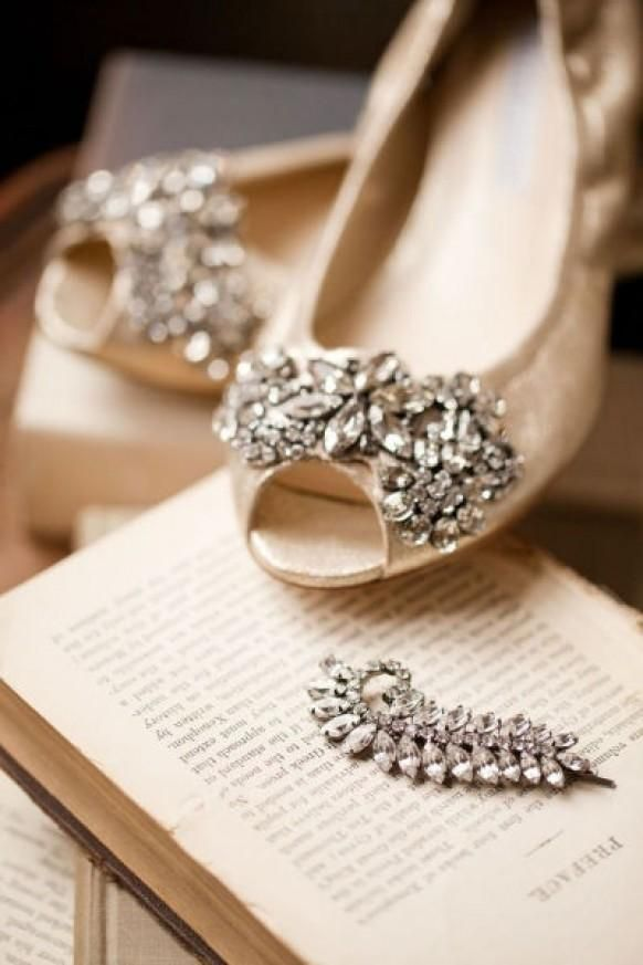 Rather than wearing heels on your wedding day, wear flats! There's more inspiration and sources on our blog. | #weddingshoes #flats #weddingaccessory | via The Styled Bride