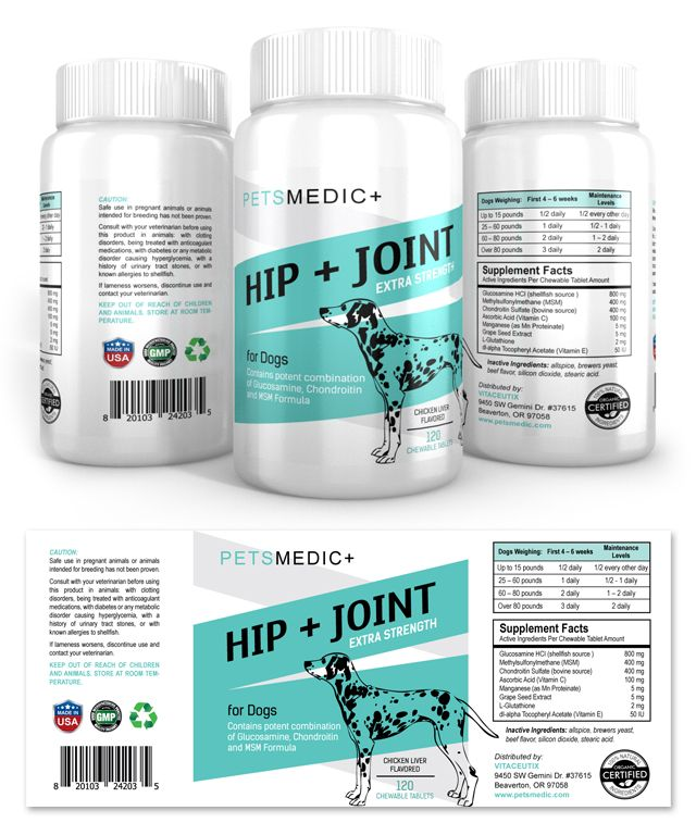 Pet Hip & Joint Supplement Label Template http://www.dlayouts.com/template/870/pet-hip-joint-supplement-label-template