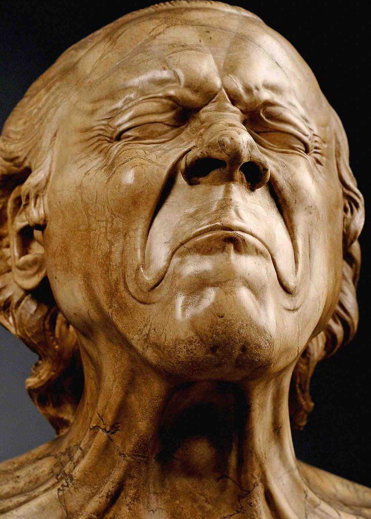 Head sculpture - Franz Xaver Messerschmidt (1736-1783). Belvedere Palace, Vienna.