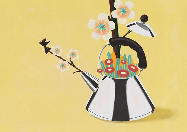 Natural Infusion with Alessi Bird Teapot - Elle Decor on Behance