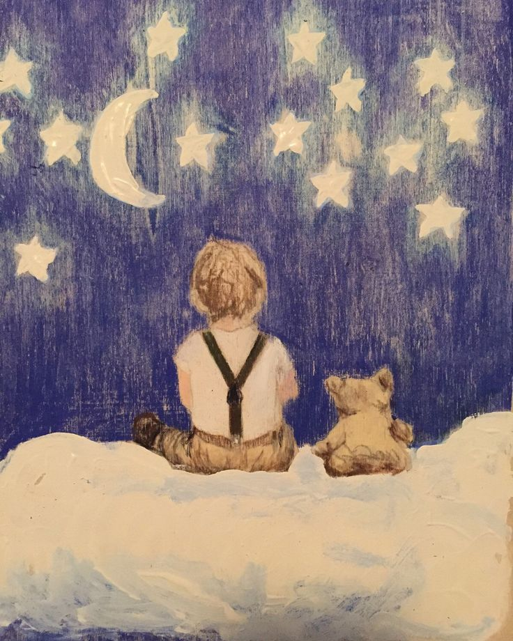 Sweet dreams boy and bear by muralsbyshauna on Etsy https://www.etsy.com/listing/268009059/sweet-dreams-boy-and-bear
