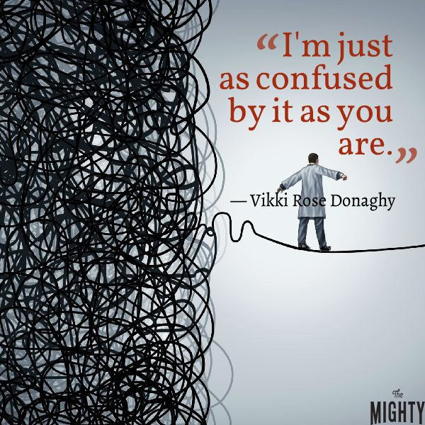 """A quote from Vikki Rose Donaghy that says, """"I'm just as confused by it as you are."""""""