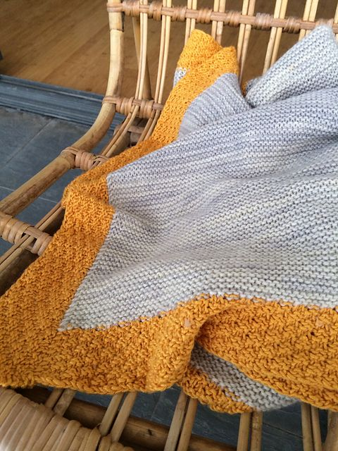 Knitting Edges Garter Stitch : Knit garter stitch blanket with bamboo edging finished
